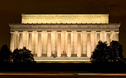 Lincoln Photos - Lincoln Memorial at Night - Sydney Tran by Sydney Tran