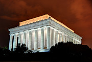 Lincoln Photos - Lincoln Memorial at Night - Washington D.C. by Gary Whitton
