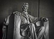 Abe Lincoln Photo Posters - Lincoln Memorial Poster by Daniel Hagerman