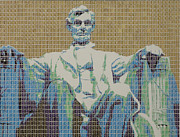 President Mixed Media Originals - Lincoln Memorial by Gary Hogben