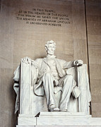 Historic Statue Posters - Lincoln Memorial Poster by Lisa Russo