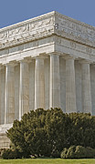 Symetrical Posters - Lincoln Memorial Pillars Poster by Susan Candelario