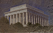 Seat Of Power Prints - Lincoln Memorial Print by Skip Willits
