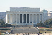 Seated Metal Prints - Lincoln Memorial - Washington DC - 01131 Metal Print by DC Photographer