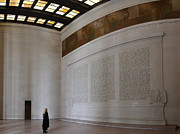 Seated Metal Prints - Lincoln Memorial - Washington DC - 01132 Metal Print by DC Photographer
