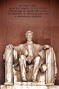 D.w Prints - Lincoln Print by Paul W Faust -  Impressions of Light