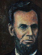 Abe Lincoln Painting Posters - Lincoln Portrait #5 Poster by Daniel W Green