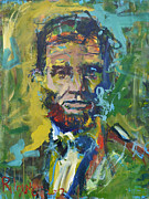 President Paintings - Lincoln by Robert Joyner