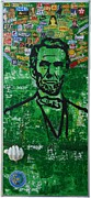 Independence Day Mixed Media Posters - Lincoln- Texas Poster by Alireza Vazirabadi