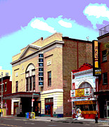 Lincoln City Mixed Media Prints - Lincoln Theatre Print by Charles Shoup