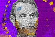 Abe Lincoln Digital Art Posters - Lincolns Beard Poster by Daryl Burd