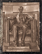 Mary Todd Lincoln Prints - Lincolns Tomb and His Statue Print by Pamela Briggs-Luther