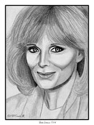 Performer Drawings Prints - Linda Evans in 1984 Print by J McCombie