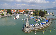 Lindau Framed Prints - Lindau harbor Lake Constance Germany Framed Print by Matthias Hauser