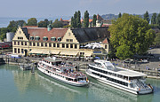 Pleasure Photos - Lindau harbor with ships Lake Constance Germany by Matthias Hauser