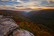 Lindy Prints - Lindy Point sunset at Blackwater Falls in West Virginia Print by Jetson Nguyen