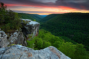 Bear Rocks Prints - Lindy Point Sunset Print by Bernard Chen