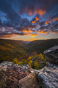West Virginia Prints - Lindy Point Sunset Print by Joseph Rossbach