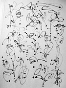 Pen And Ink Drawing Drawings - Line Dance by Nancy Kane Chapman