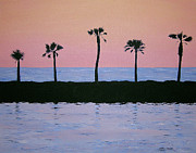Venice Beach Palms Prints - Line Dancing Print by Debbie Kiewiet