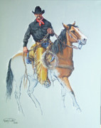 Chaps Paintings - Line Rider by Randy Follis
