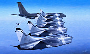 Usaf Framed Prints - Line Right Up Framed Print by Dale Jackson