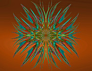 Fractal Designs Prints - Linear Fractal Print by Sandy Keeton