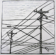 Austin Drawings - Lines by William Cauthern