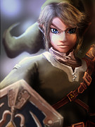 Nintendo Digital Art - Link by Jason Longstreet