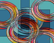 Overlapping Circles Metal Prints - Links Metal Print by Ben and Raisa Gertsberg