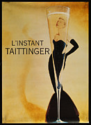 Booze Posters - LInstant Taittinger Poster by Nomad Art And  Design
