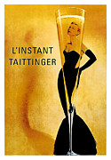 Passenger Mixed Media Prints - LInstant Tattinger Advertising Poster Print by Gary Perron
