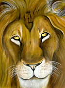 Strength Paintings - Lion by Denise Deiloh