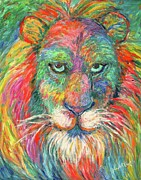 Kendall Kessler Paintings - Lion Explosion by Kendall Kessler