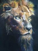 Spiritual Insight Prints - Lion Eyes 2012 Print by Harlene Bernstein