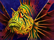 Colorful Fish Framed Prints - Lion Fish Framed Print by Scott Spillman