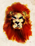 Guillaume Bachelier Prints - Lion Ink Print by Guillaume Bachelier