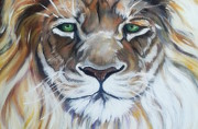 Lion Of Judah Close Up Print by MarLa Hoover