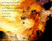 No Weapon Formed Against Me Shall Prosper In Jesus Name. Prints - Lion of Judah Courage  Print by Amanda Dinan