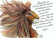 Lion Of Judah Paintings - Lion of Judah by Jan Nosakowski