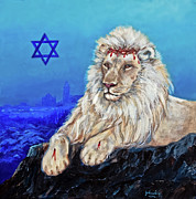 Pets Art Digital Art - Lion of Judah - Jerusalem by Nadine and Bob Johnston