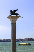 Vaporetto Posters - Lion of Saint Mark. Venice. Poster by Fernando Barozza