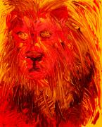 Prophecy Painting Originals - Lion of the Tribe of Judah by Richard W Linford