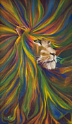 Jungle Animals Paintings - Lion by Rene