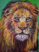 Lion Oil Paintings - Lion Stare by Kendall Kessler