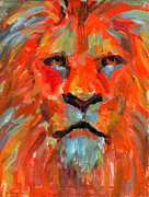 African Prints Paintings - Lion by Svetlana Novikova