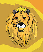 Cartoon  Lion Digital Art - Lion v2 by Jonathan Larson