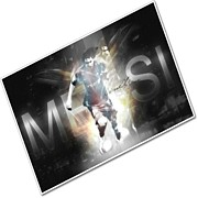 Scoring Framed Prints - Lionel Messi football Framed Print by Lanjee Chee