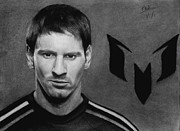 Soccer Drawings Prints - Lionel Messi Print by Vishvesh Tadsare