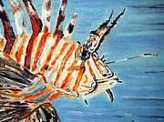 Lionfish Paintings - Lionfish by Daniel Janda